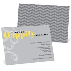 Bridal Shower Invitations -- Happily Every After #peartreegreetings #bridalshowerinvitations #weddingideas