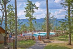 Mountain Music is a 4 bedroom cabin with swimming pool access!