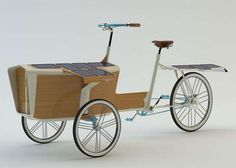 Solar-Powered Cargo Cycles - The Sun Bike Puts an Eco-Friendly Twist on the Christiania Bike (GALLERY)