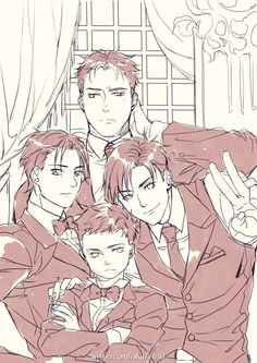 The boy wonderz in their suits and ties