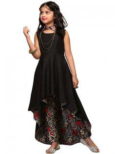 High Low Hemline Salwar Kameez for Kids Girls