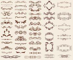 Download Retro Design Elements, European-style lace patterns keyword golden light radiation shield ornate floral pattern background vector material. European-st