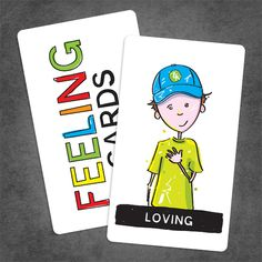 The deck of 48 cards includes 2 sets of 24 feelings. Mental Illness Facts, Spot Uv, Custom Decks, Self Compassion, Foil Stamping, Emotional Intelligence, Kids Cards, Social Skills, Card Sizes
