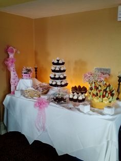 Full view dessert table at Baby Shower...I did it:)
