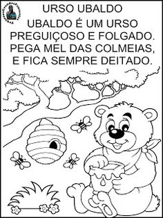 Texto Letra U - Educação Infantil Kindergarten, Education, Fictional Characters, 1, Professor, Bees, Insects, Activities For Toddlers, Literacy Activities