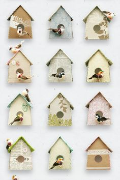 The Birdhouse Wallpaper by Studio Ditte is a quirky design featuring pretty little birds living in a variety of vintage papered and fabric houses. Free delivery at Lime Lace Vintage Wallpaper, Home Wallpaper, Girl Wallpaper, Wallpaper Crafts, Painted Wallpaper, Amazing Wallpaper, Wallpaper Designs, 242, Fabric Houses