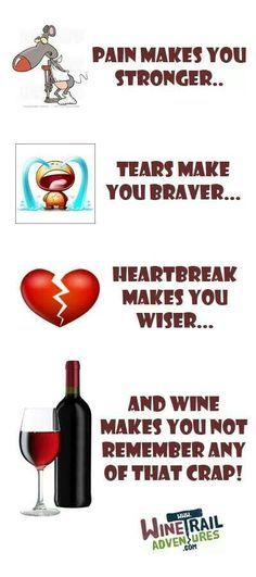 """Ahhh Wine...""""...makes you forget all the crap"""" __#winefixin' #funnies (Wine Ponder/ Wine Thoughts Flowchart) #vintoxicated"""