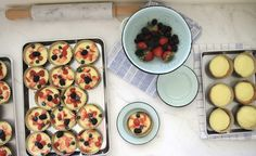 Jenny Steffens Hobick: Petite Berry Tarts with Easy Vanilla Custard and Graham Cracker Crust