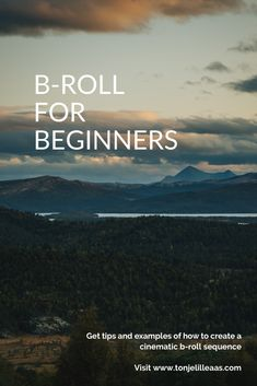 What is b-roll? And what should you think about when making a cinematic b-roll sequence? B Roll, Great Videos, Getting Out, How Beautiful, Videography, Cinematography, Breakup, Storytelling, Career