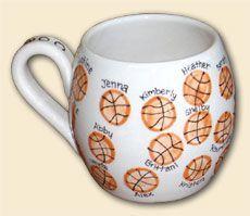 Basketball Thumbprint Mug