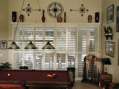 Comfy Plantation Shutters for Sliding Glass Doors — Built With Polymer Design Sliding Glass Door Shutters, Louvered Shutters, Sliding Door Window Treatments, Sliding Doors, Glass Doors, Barn Doors, Door Coverings, Shutter Doors, Patio Doors