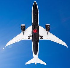 Air Canada's brand new livery is stunning. The aircraft belly painted black featuring a single red AC rondelle allows it to stand out on the runway and. Planes, Air North, Canadian Airlines, Boeing 787 8, Airplane Art, Belly Painting, Commercial Aircraft, Civil Aviation, Bus