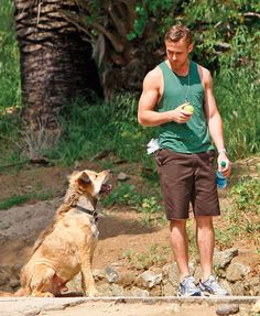 Man & dog  Ryan Gosling - Hot guys with dogs