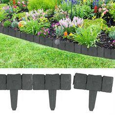 relaxdays rasenkante hbt ca. 10 x 250 x 2 cm flexible, Garten und erstellen