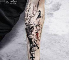 Abstract tattoo by Koit Tattoo