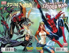 Superior Spider-Man and Amazing Spider-Man by J. Scott Campbell, colours by Nei Ruffino *