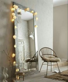 Lights and mirror