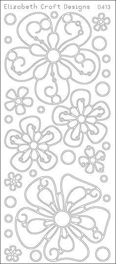Big Flowers Peel-Off Stickers-Black - Harvey & Haley