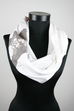 Items similar to Woman infinity scarf - circle scarf - loop scarf - hand embroidered - matyo - multicolored - grey and white - made to order on Etsy Loop Scarf, Circle Scarf, Infinity Scarfs, Womens Scarves, Woman, Trending Outfits, Unique Jewelry, Etsy, Shopping
