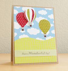 Stampin' Up Up, Up & Away Hot Air Balloon Card