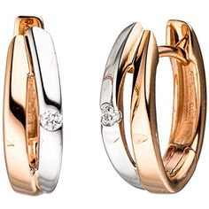 JOBO Creolen 585 Gold Rotgold bicolor 2 Diamanten Brillanten Ohrringe Klappmechanik Jobo http://www.amazon.de/dp/B0142ILXUQ/?m=AMWB9IWQTFGZU