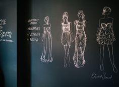Sarah Seven | Rue - GORGEOUS BLACKBOARD DRAWING FASHION DESIGN