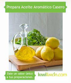 Prepara aceite aromático en casa.