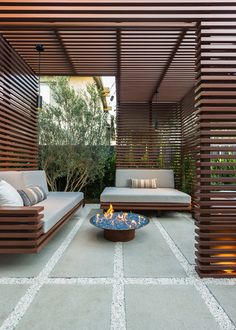 Outdoor screening / Kurt Krueger Architects