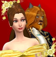 Belle & the Beast by mickeymouse254 at Mod The Sims via Sims 4 Updates