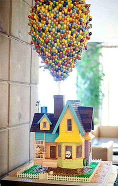 From Wall-E and Eve Love Cake to the Up movie cake let's look at these awesome Disney cakes. Pretty Cakes, Cute Cakes, Beautiful Cakes, Amazing Cakes, Amazing Art, Feel Fantastic, Beautiful Flowers, Crazy Cakes, Fancy Cakes