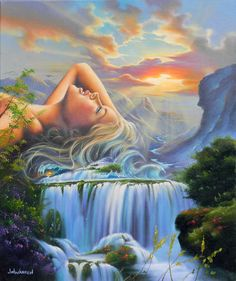 Relax * Artist Jim Warren Fantasy Myth Mythical Mystical Legend Elf Elves Dragon Dragons Fairy Fae Wings Fairies Mermaids Mermaid Siren Dragon Dragons Siren Sword Sorcery Magic Witch Wizard Whimsy Valkyrie Humor Funny Cute Hidden Surreal