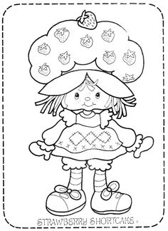 vintage+strawberry+shortcake+coloring+pages | Return to Strawberry Shortcake Coloring Books @Holly McMillen-Addict.com