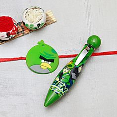 Kids Rakhi with Designer Pen Rakhi Design, Pen Design, Clay, Kids, Children, Boys, Babies, Kids Part, Clays