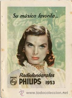Página de publicidad Original *Radiofonógrafos PHILIPS 1953* - Año 1953