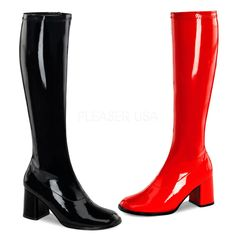 Funtasma GOGO-300HQ Black and Red Dual Color Gogo Boots