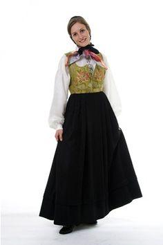 Gudbrandsdalen Damask-kjol