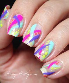Neon Nail Art - Abst