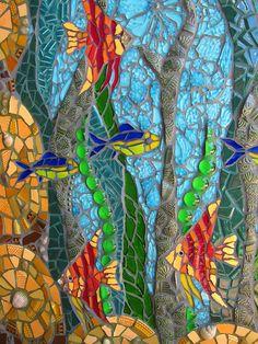 The Water Goddess - mosaic wall art Mosaic Garden Art, Mosaic Tile Art, Mosaic Pots, Mosaic Artwork, Mosaic Diy, Mosaic Crafts, Mosaic Glass, Stained Glass Art, Mosaic Mirrors