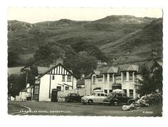 Dwygyflchi - large size, photographic postcard of the Fairy Glen Hotel