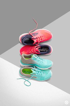 Say hello to hot-to-spot C9 Champion Athletic Shoes in new bright hues. These pairs will complement your stride in style, and make every step stand out. Teal and coral are this year's hottest color trends, and totally deserve a spot in your what-to-wear workout closet. Each workout outfit could even have its own shade.