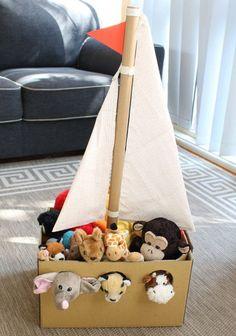 10 juguetes hechos con cartón para jugar con tus hijos