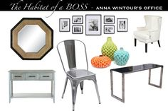 Anna Wintour's office Vouge mock up get the look