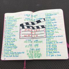 Movie tracker in my bullet journal .
