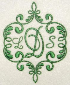 """Elegant Frame Embroidery Designs Three Sizes: 3"""", 4"""" and 6"""""""