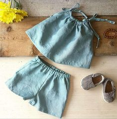 Baby Girl Clothes Linen Baby Clothes Baby Summer Outfit