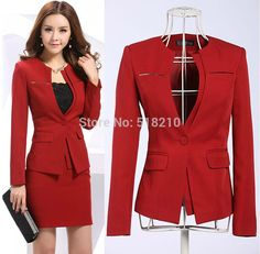 Best Wholesale Newest 2015 Spring Professional Business Women Work Wear Skirts Suits Formal Women Sets For Office Ladies Red Plus Size 4xl Under $63.35 | Dhgate.Com