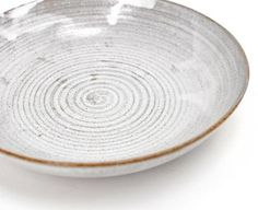 """Love this one, but it is only 1"""" deep, ugh! Nom Living, Rustic stoneware pasta bowl in snow white"""