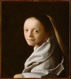 Meisjeskopje - Johannes Vermeer (1632-1675). Hangt in het Metropolitan Museum of Art, New York