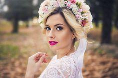Kvetinová svadobná parta