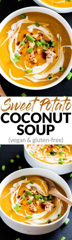Sweet Potato Coconut Soup (vegan & gluten-free) – Emilie Eats